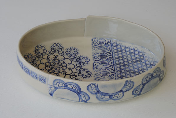 Oval Lace Bowl