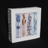 """Walled Tile - Collagraph """"Handpicked Spikes"""""""