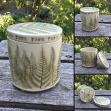 Round Lidded Fern Container
