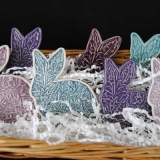 Rabbit Brooches in Basket