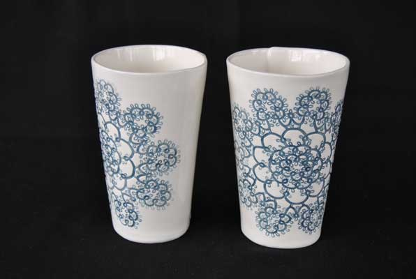 Tatted Doily Tumblers