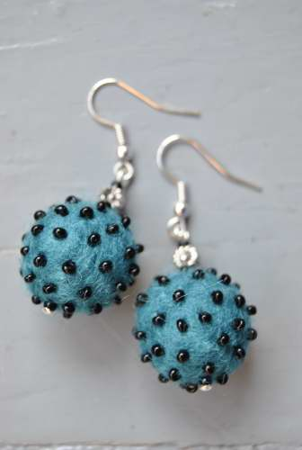 Felt Bead Earrings